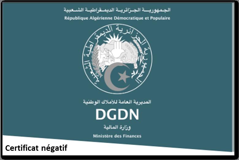 Certificat négatif