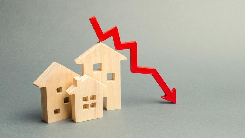 Les prix de l'immobilier en baisse